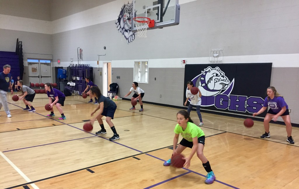 Girls ball-handling at Geraldine spring17